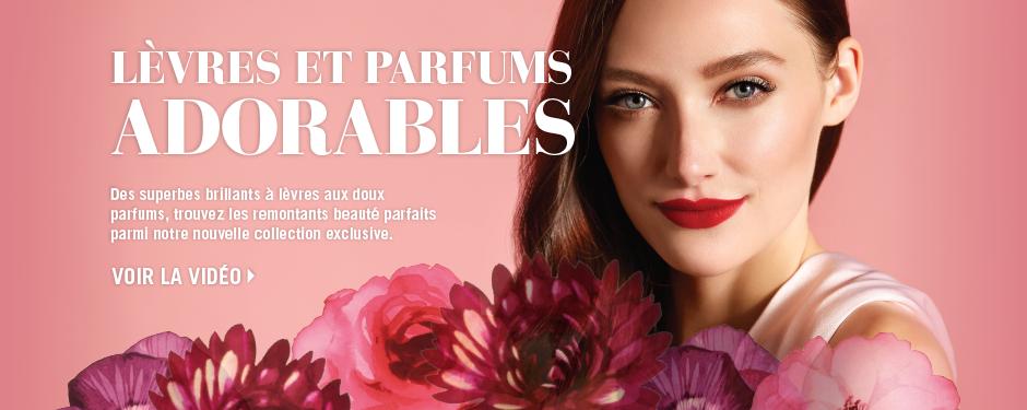 Lèvres et parfums adorables