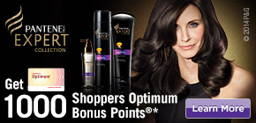 Get 1000 Shoppers Optimum Bonus Points®*  when you buy any 2 participating Pantene PRO-V Expert products.