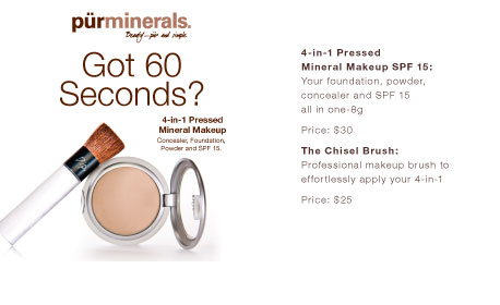 4-in-1 Pressed Mineral Makeup SPF 15