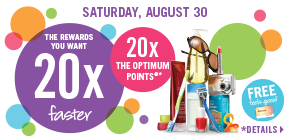 Spend $50 and get 20x the Shoppers Optimum Points