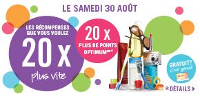 Obtenez 20 X plus de points Pharmaprix Optimum à l'achat de presque tous produits en magasin d'une valeur de 50 $ ou plus.