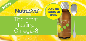 Try a spoonful of great tasting omega-3. Just one teaspoon a day!