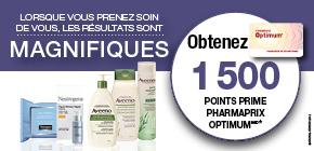 Produits Neutrogena® ou Aveeno® obtenez 1 500 Points Prime Pharmaprix OptimumMD