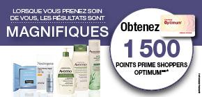 Produits Neutrogena® ou Aveeno® obtenez 1 500 Points Prime Shoppers OptimumMD