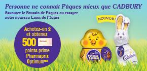 Savourez les délicieux produits CADBURY à Pâques cette année!