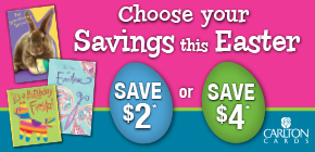 Buy any 2 Carlton Cards, Save $2 or Buy any 3 Carlton Cards, Save $4*