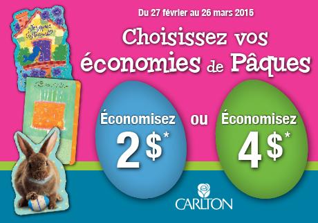 Choisissez vos économies de Pâques !