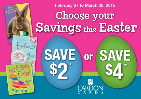 Choose your Savings this Easter!