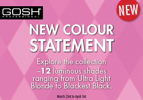 New GOSH Professional Hair Colour with 12 luminous shades.