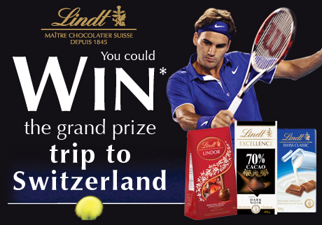 You could WIN* a trip to Switzerland