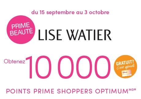 Découvrez la prime beauté de Lise Watier et offrez-vous une superbe récompense.