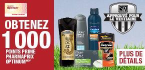 Obtenez 1 000 Points OptimumMD à l'achat de deux produits participants pour hommes de Unilever.