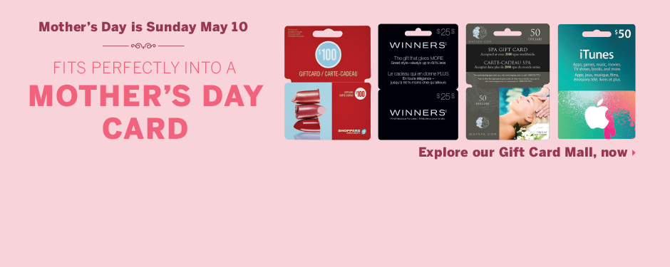 Give Mom a gift card!