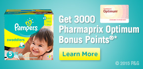 Get 3000 Pharmaprix Optimum Bonus Points®*