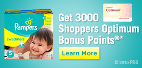 Get 3000 Shoppers Optimum Bonus Points®*