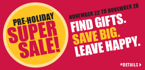 Pre-Holiday Super Sale!