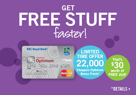 Limited time offer – Get 22,000 Shoppers Optimum Bonus Points