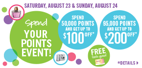 Get up to $200 off at the Spend Your Points Event!