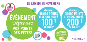 Super promotion «Dépensez vos points!»