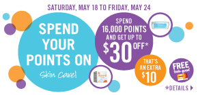 Spend your points on skin care!