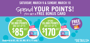 Spend your points!