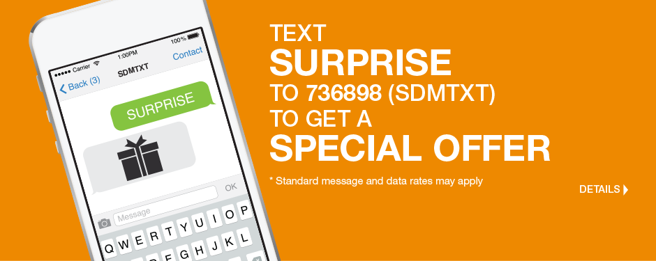 Text us now for your special offer!