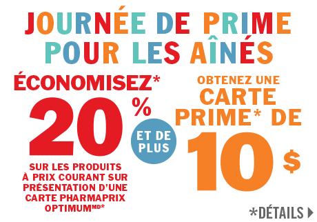 Économisez 20 % ET obtenez une carte prime Pharmaprix de 10 $