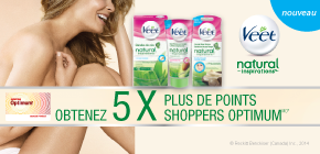 Obtenez 5 x plus de points Shoppers OptimumMD