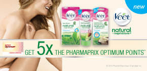 Get 5x the Pharmaprix Optimum points®