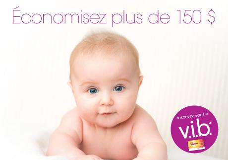 Inscrivez-vous à notre programme pour bébé v.i.b. dès aujourd'hui.