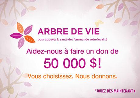 Aidez-nous à faire un don de 50 000 $!