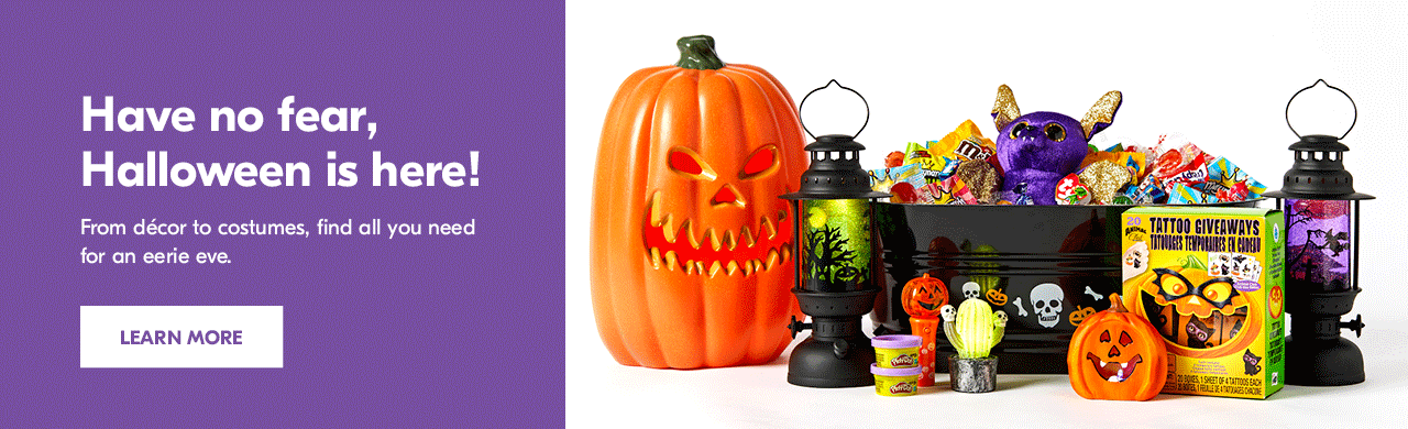 Have no fear, Halloween is here! From décor to costumes, find all you need for an eerie eve.
