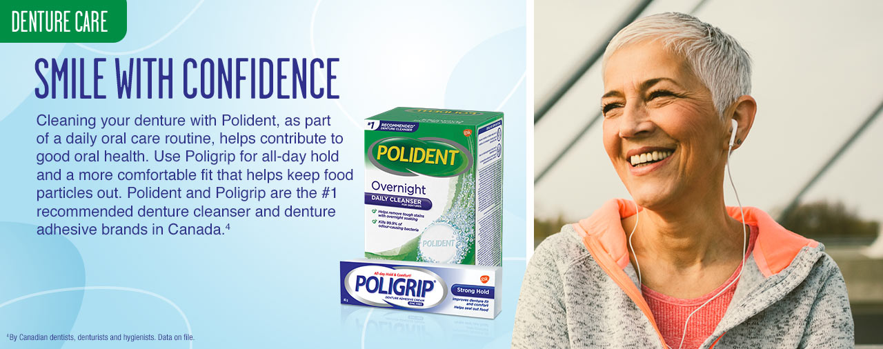 Denture care. Smile with confidence