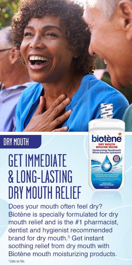 Dry mouth. Get immediate and long lasting dry mouth relief