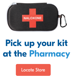 Naloxone kits are available free. Locate Store.