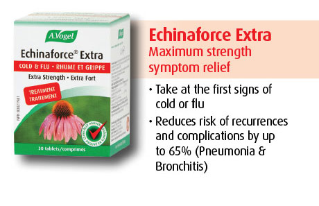 Echinaforce Extra Hot Drink is clinically proven to be as effective as influenza prescription medication.