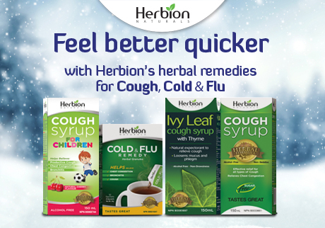 Prevent Cough, Cold & Flu with Herbion Naturals Cough Syrups and Cold & Flu Remedy Granules.