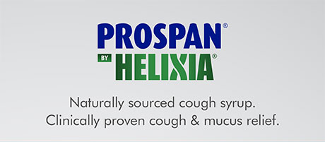 Prospan by Helixia. Naturally sourced cough syrup. Clinically proven cough and mucus relief.