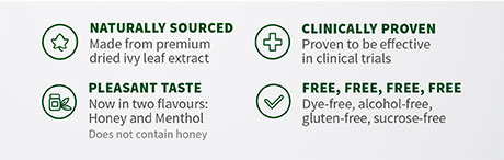 Naturally sourced. Clinically proven. Pleasant taste. Dye-free, alcohol-free, gluten-free, sucrose-free