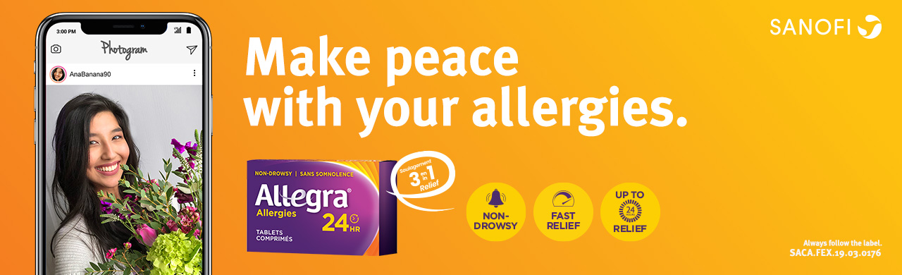 Get up to 24 hours of fast relief from your allergy symptoms with Allegra 24HR's non-drowsy formula.