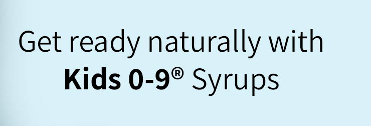 Get ready for cough and cold season naturally with our Kids 0-9 Syrups line : It's gluten free, with no added sugar and non-drowsy.
