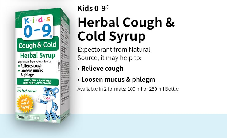 Herbal Cough & Cold Syrup is an expectorant from Natural Source and may help to relieve cough and loosen mucus & phlegm.