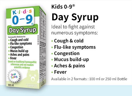 Day Syrup is ideal to fight against symptoms such as cough and cold, flu-like symptoms, congestion, mucus build-up, aches, pain and fever.