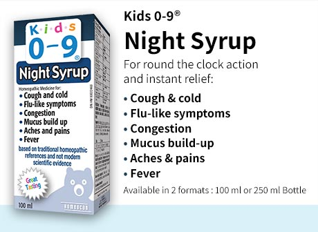 Night Syrup instantly relieves cough and cold, flu-like symptoms, congestion, mucus build-up, aches, pain and fever.