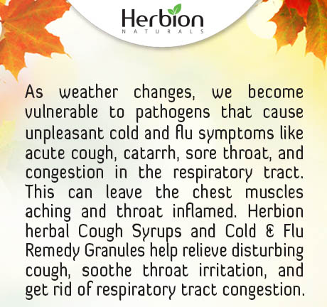 Don't Get Caught un prepared this winter. Prevent Cough, Cold & Flu with Herbion Naturals.