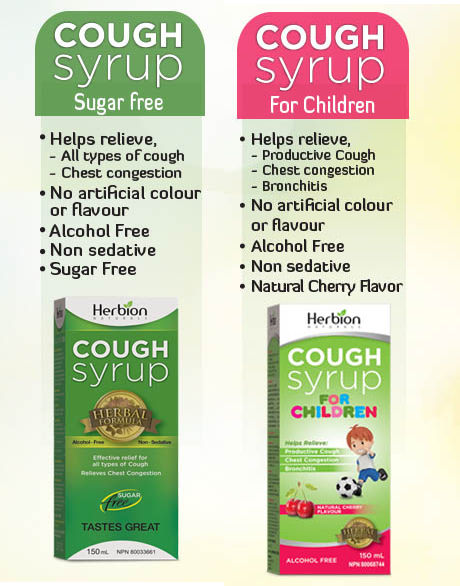 Herbion Cough Syrup Sugar Free helps relieve all types of cough and chest congestion.