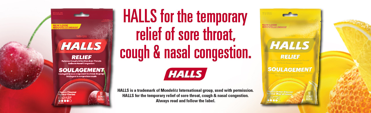 Try HALLS for triple soothing action