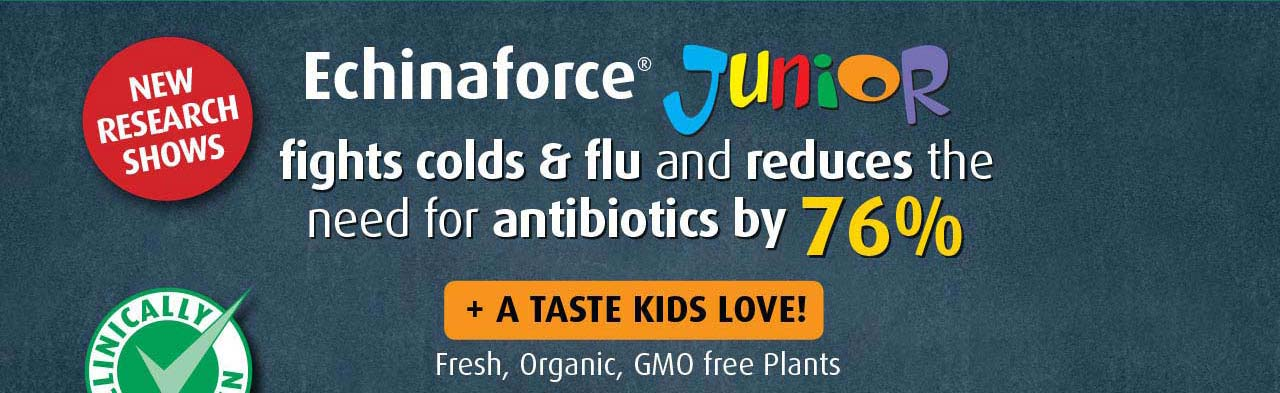 A.Vogel's Echinaforce provides effective prevention and treatment solutions for the whole family. Made with fresh, organic, GMO free plants.