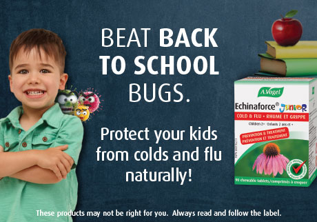 Protect your kids from colds and flu naturally. Echinaforce® Junior. Clincally proven to prevent illness and reduce antibiotic use by 76%.