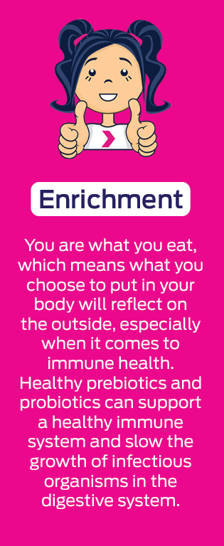 Enrichment - to help build and maintain a healthy immune system